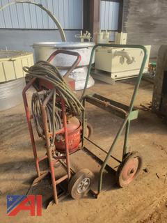 Gas Torch with Cart and Welding Cart
