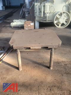 """Square Iron Work Table, 6-1/2"""" Thick"""