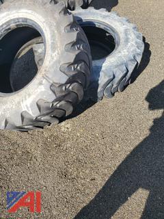12.5/80 Front Tires off JD Backhoe