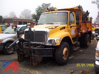 2006 International 7400 Dump Sander Truck with Plow