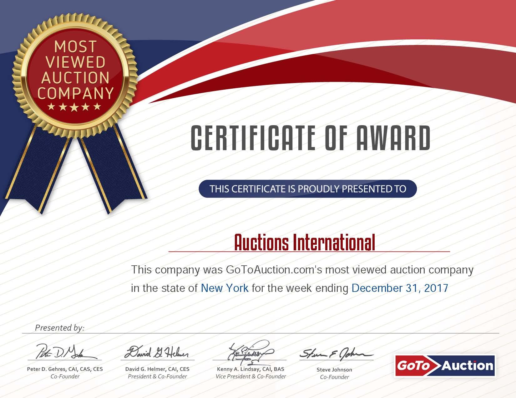 GoToAuction 12.31.2017 NY