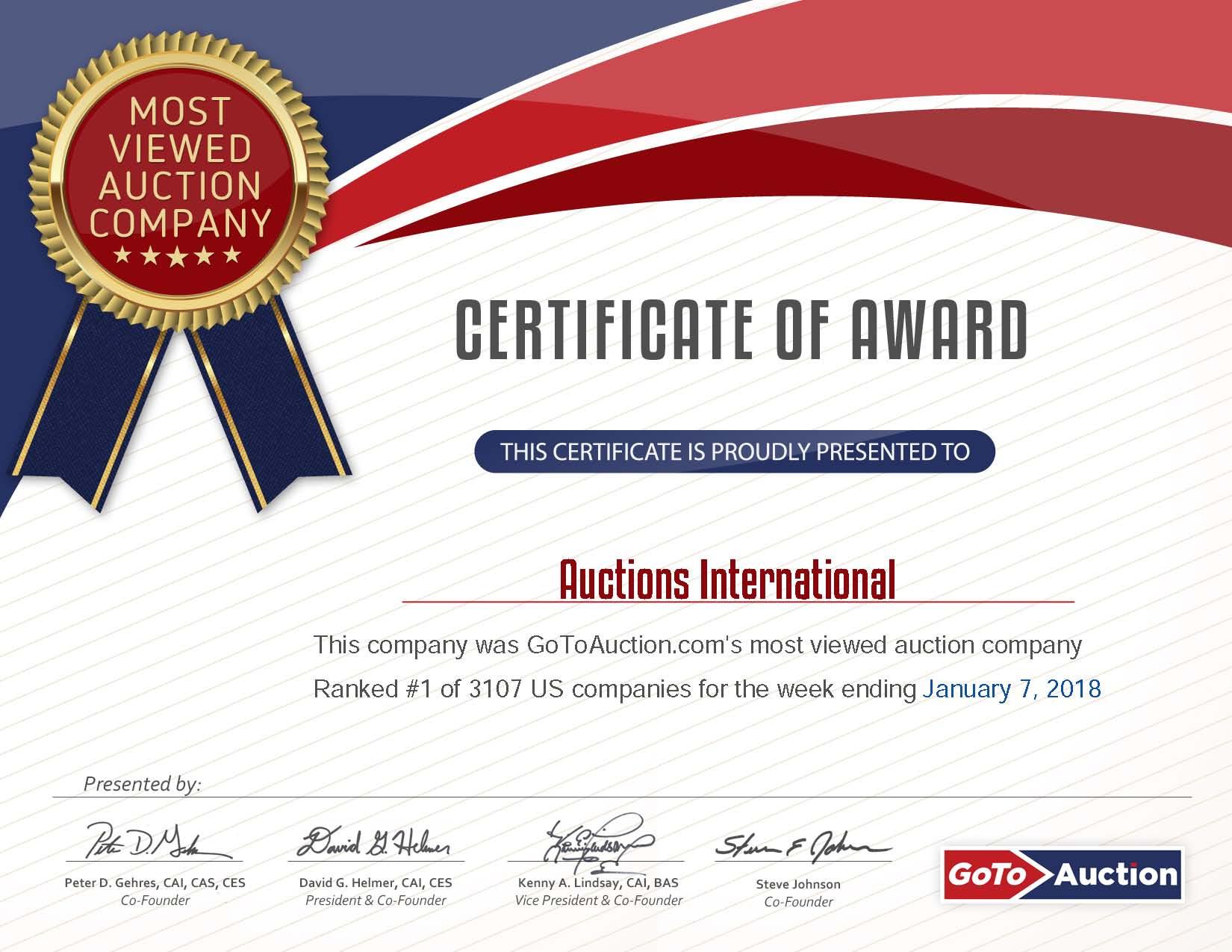 GoToAuction 1.7.2018 USA